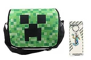 (ゲットオン) GETON Minecraft マインクラフト Creeper ショルダー メッセンジャー 肩掛け バッグ かばん + ピッケル セット (モザイク)