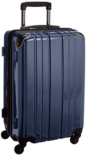 [ワイズリー] wise:ly 軽量スーツケース(マチ拡張) 最大56リットル 静音4輪キャスター 338-2101 03 (ネイビー)