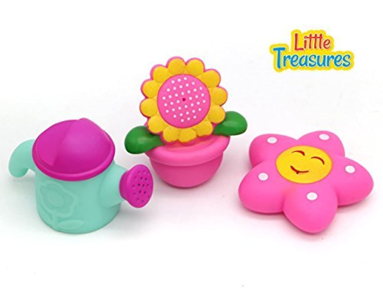 Little Treasures - water the flowers and the plant pot right in your tub, soft bath toys painted with smiling faces which make squeaky sounds, perfect for 19+ months [並行輸入品]