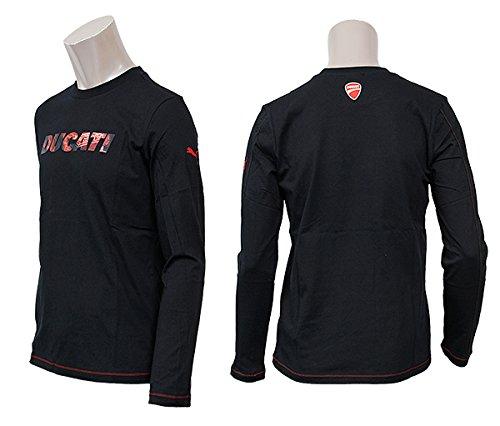 プーマ メンズ モータースポーツ 長袖 Tシャツ PUMA 559794 DUCATI ドゥカティ LS ロングスリーブ シャツ M,01/ブラック