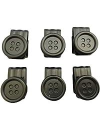 (ブレイス) サスペンダーボタン クリップボタン 米国製 稀少品 メンズ 紳士 ブレイシーズボタン一式x6Set Braces B119