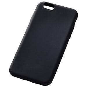 レイ・アウト iPhone6/iPhone6s ケース シリコンケース ブラック RT-P9C1/B