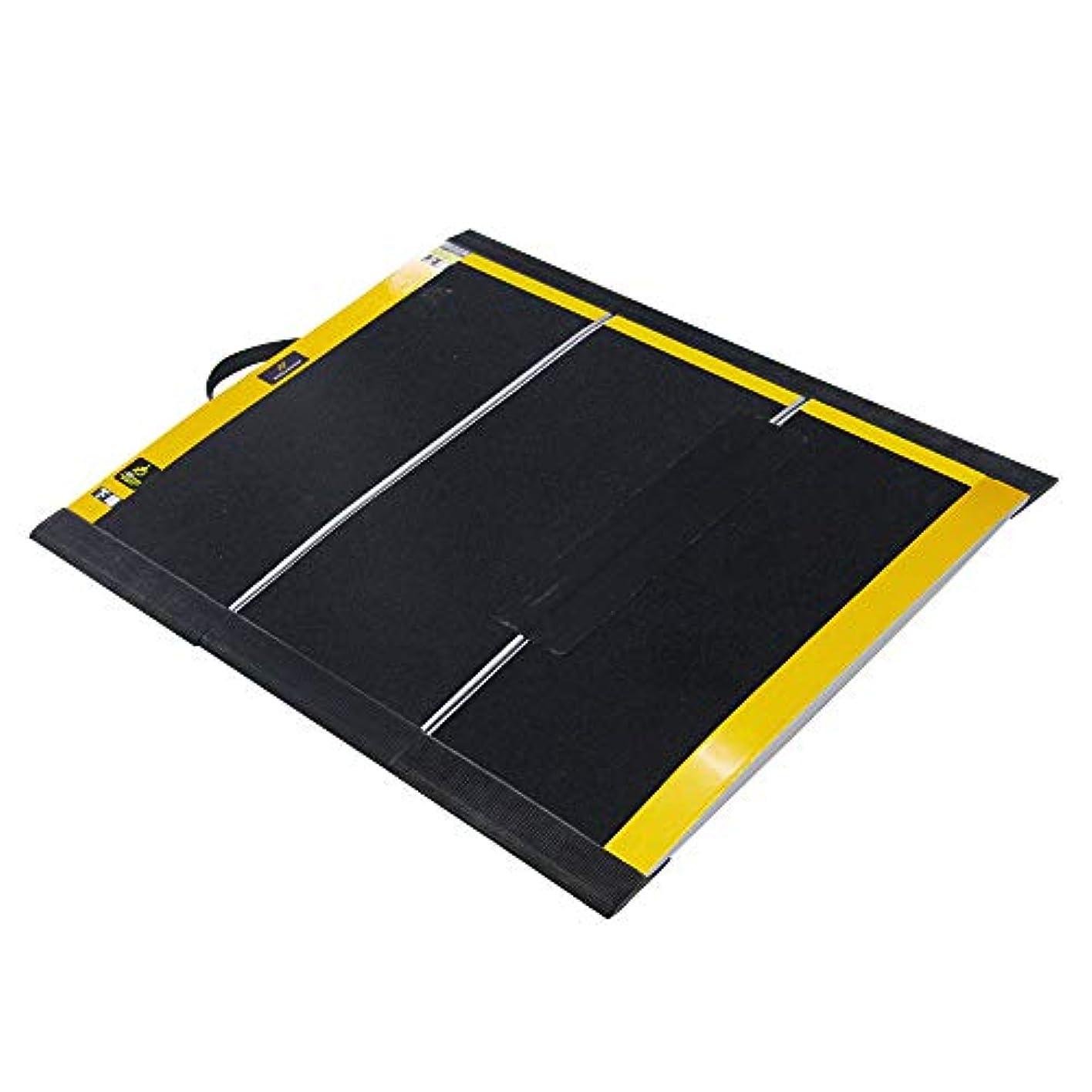 ご近所無秩序遠近法三つ折り畳み式 車椅子用スロープ 段差解消 交通機関も適用 FRP製の特殊構造 軽量スロープ MEXA1970(長さ68cm*幅84.5cm)