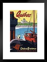 ポスターFoundry Quebec Chateau Frontenacヴィンテージ旅行アートプリント 20x26 inches ブラック 261521