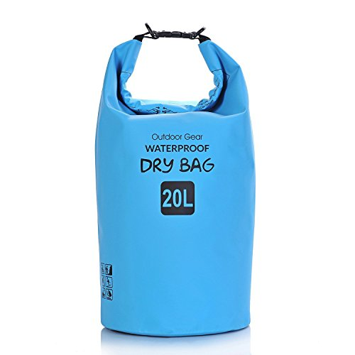 完全防水リュック バック Awsaccy 20L 大容量 人気 耐水 おしゃれ 登山 海 ブルー