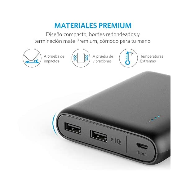Anker PowerCore 13000 Portable Charger - Compact 13000mAh 2-Port Ultra Portable Phone Charger Power Bank with PowerIQ and VoltageBoost Technology for iPhone, iPad, Samsung Galaxy (Black) 6