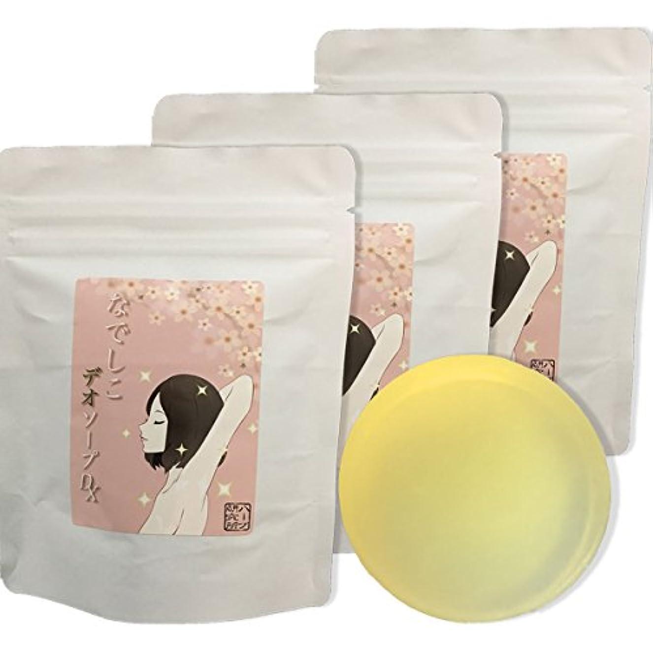 予約赤ちゃん修理工気になる黒ずみ&体臭対策に!なでしこ デオソープDX ハーブエキス + 柿渋配合 ハッカの香り3個で10%OFF