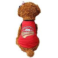 Gogatu ワンちゃん ベスト 小型犬 夏 春 レター 猫 スポーツ ペット ファッション 簡約