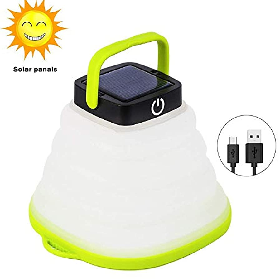 苦い葉を集める魅力的であることへのアピールSolar Portable Led Camping Lantern Lights Outdoor -Tabletop Lantern Rechargeable Emergency Light Collapsible Flashlight- Solar or USB Chargeable for Outdoor Hiking Tent Garden [並行輸入品]