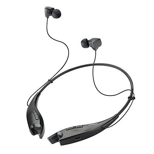 Mpow Jaws Bluetooth4.1イヤホン ヘッドセット ネックレス型 スマートフォン/タブレットPC用 (ブラック)