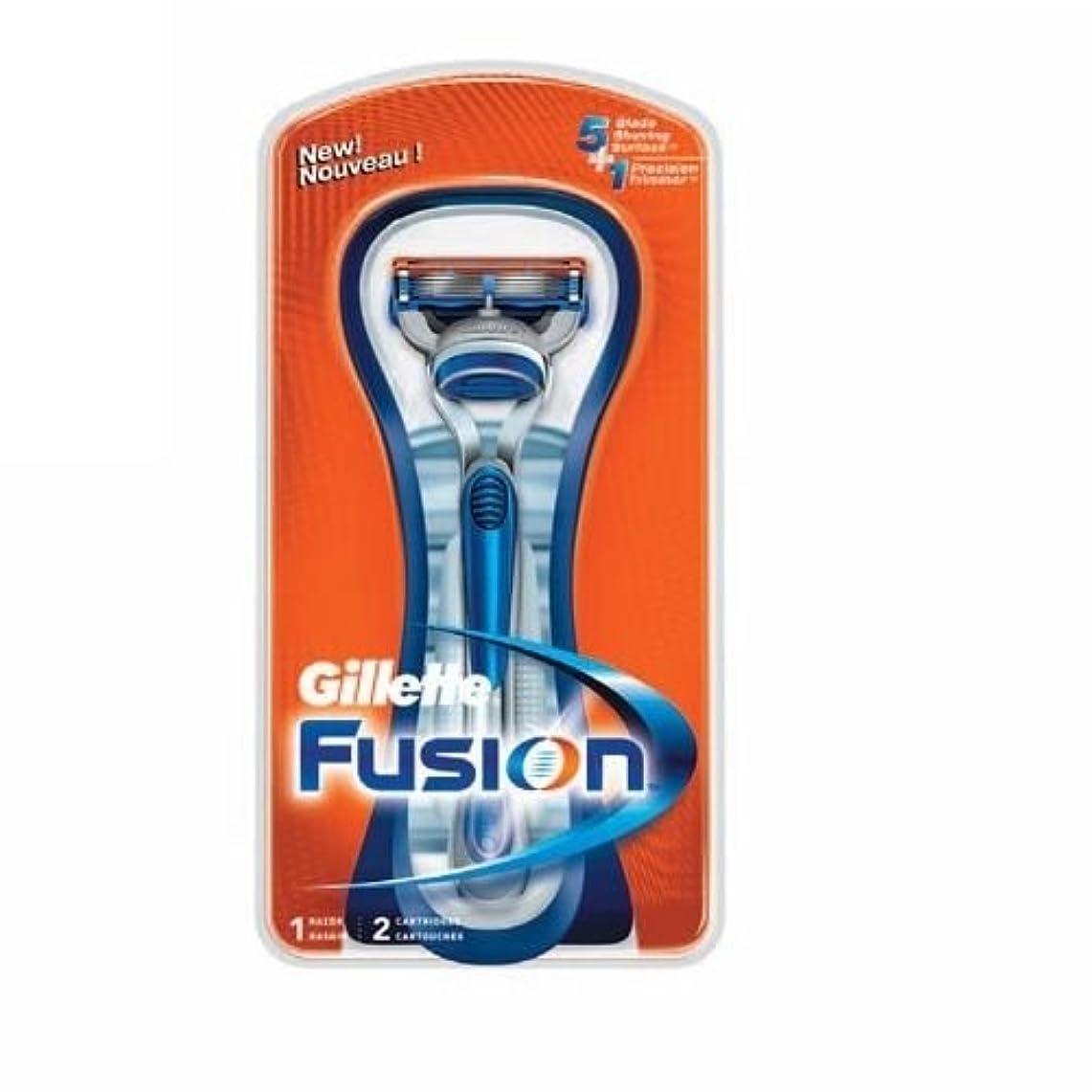 食事動機官僚Gillette Fusion Manual 2カートリッジ 1レイザー [並行輸入品]