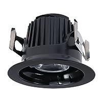 """Halo ml4d09nfl927e 4"""" 900LM、狭い洪水、2700K統合LED Recessedトリムモジュール、ブラック"""