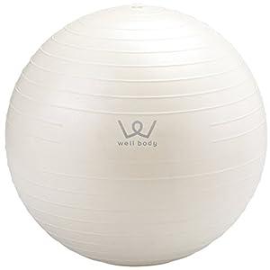 ALINCO(アルインコ) バランスボール 30cm エアーポンプ付 WB123 ホワイト