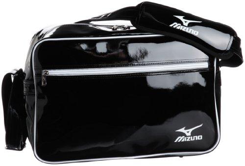 [ミズノ] MIZUNO エナメルバッグ 16DA306 09 (ブラック×ホワイト)