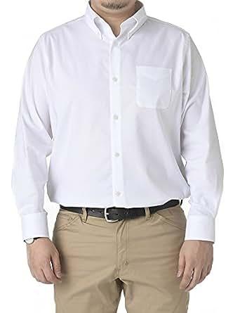 LIBERATON(リベレートン) ストレッチドレスシャツ オックスフォード PT-004 (XL, ホワイト)