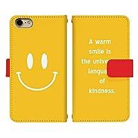 iPhone 8 Plus 手帳型 スマホケース スマホカバー di411(C) スマイル ニコちゃん アイフォン8プラス スマートフォン スマートホン 携帯 ケース アイホン8プラス 手帳 ダイアリー スマフォ カバー