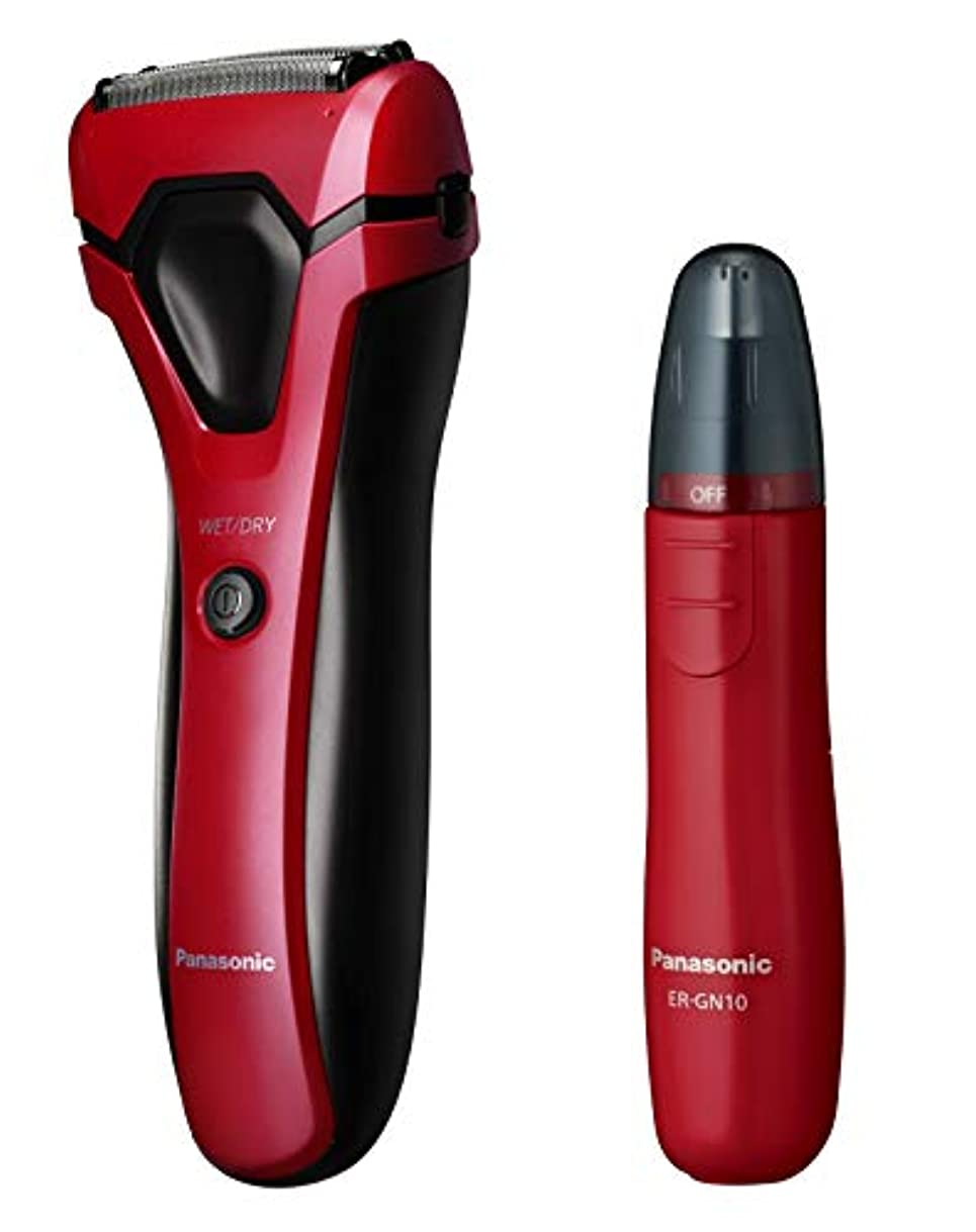 寮宿る紀元前パナソニック メンズシェーバー 3枚刃 お風呂剃り可 赤 ES-RL13-R + エチケットカッター セット
