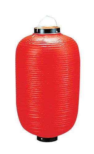 ビニール提灯長型 9号 赤ベタ YTY0193Q