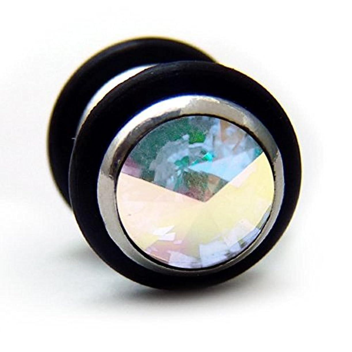 円形の一般的に言えば排泄するスワンユニオン swanunion 黒丸型 片耳 磁石 マグピ ステンレス製 フェイクピアス fp23