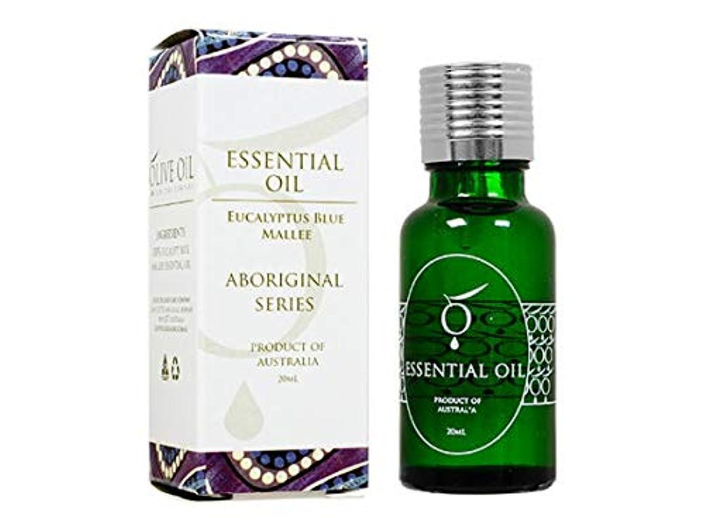 割れ目状キャプテンブライOliveOil エッセンシャルオイル?ユーカリブルーマリー 20ml (OliveOil) Essential Oil (Eucalyptus Blue Mallee) Made in Australia