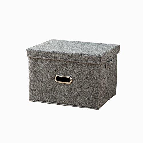 LY 収納ケースふた付き ボックス 折り畳み可能なバスケット 部屋布製ビン オフィス雑物収納 おもちゃ整理 大容量 便利