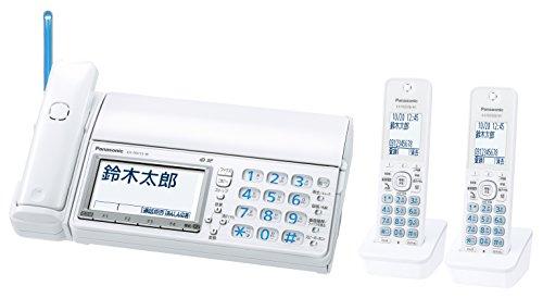 デジタルコードレス普通紙ファクス(子機2台付き)(ホワイト) KX-PD715DW-W 1台