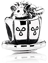 PANDORA Charms Sterling Silver Original Cute Queen Mouse in the Tea Cup Charm