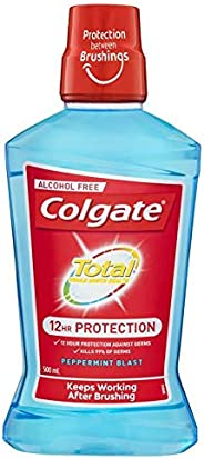 Colgate Total Pro-Shield Alcohol-Free Mouthwash Peppermint Blast 500mL