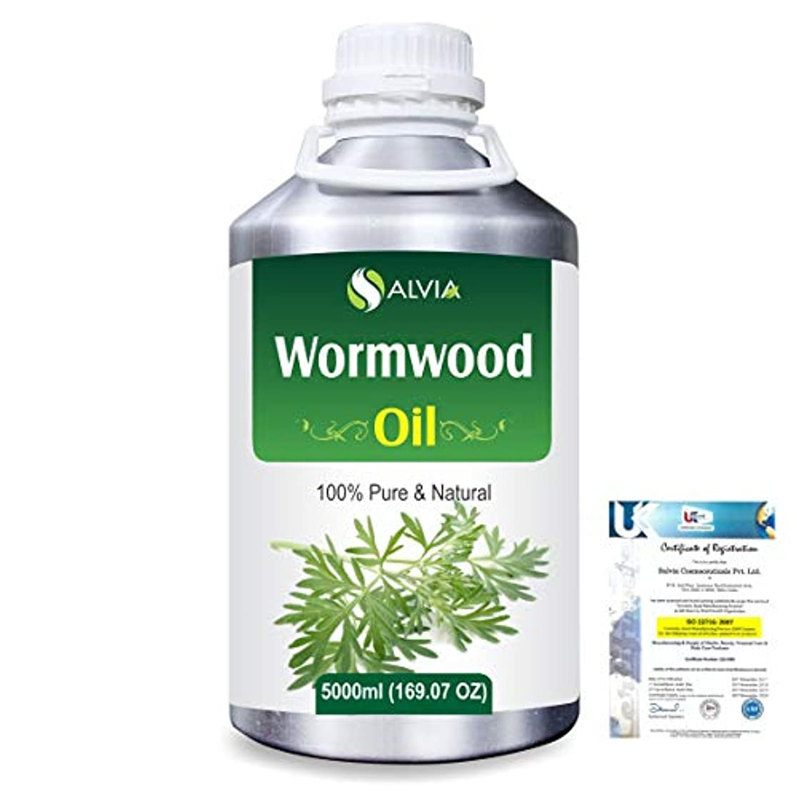 ゲスト撤退役割Wormwood (Artemisia absinthium) 100% Natural Pure Essential Oil 5000ml/169fl.oz.