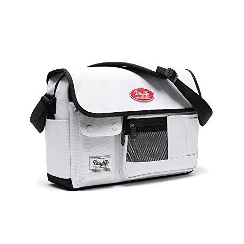 【日本正規代理店品】DAYLIFE POST CROSS BAG ポストクロスバッグ ボディバッグ メッセンジャーバッグ 小さめ 斜め掛け クロスバッグ かわいい 女子高生 JK 旅行バッグ (ホワイト)
