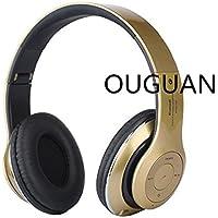OUGUAN 密閉型 無線 ワイヤレスヘッドホン 折畳み型 Bluetooth ヘッドフォン 3.5mm端子 オーディオ有線ヘッドセット 無線と有線両用 金色