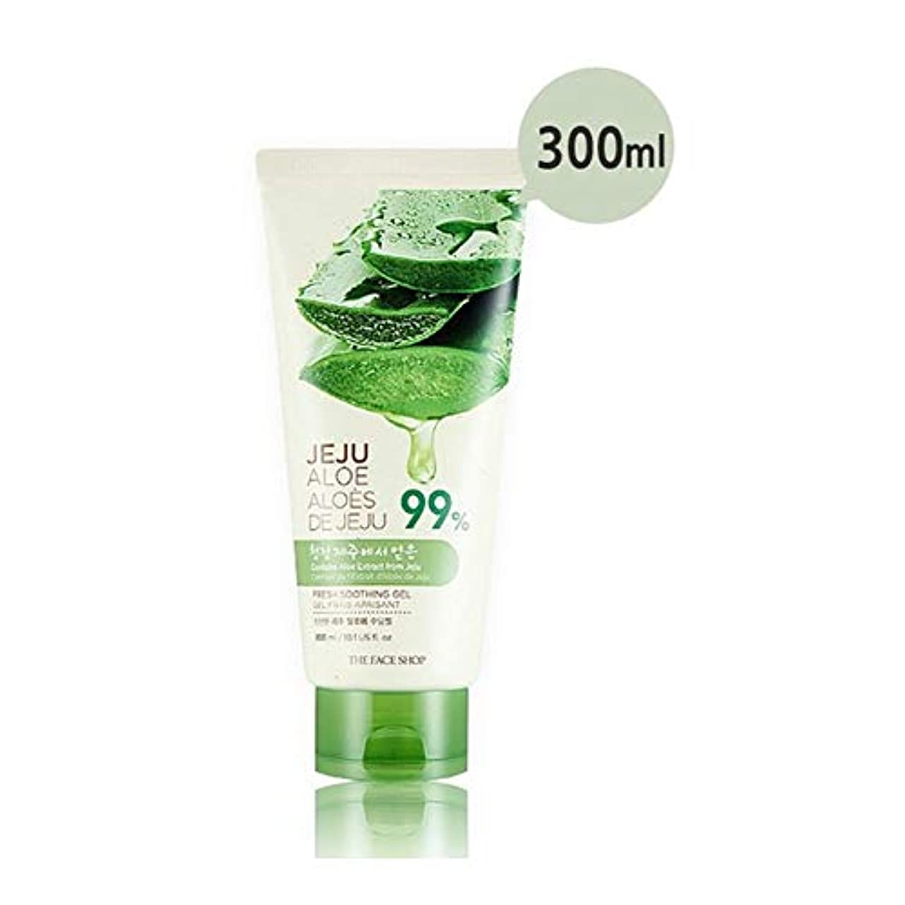 十咲く燃やすザ?フェイスショップ済州アロエ新鮮なスーディングジェル300ml x 2本セット韓国コスメ、The Face Shop Jeju Aloe Fresh Soothing Gel 300ml x 2ea Set Korean...