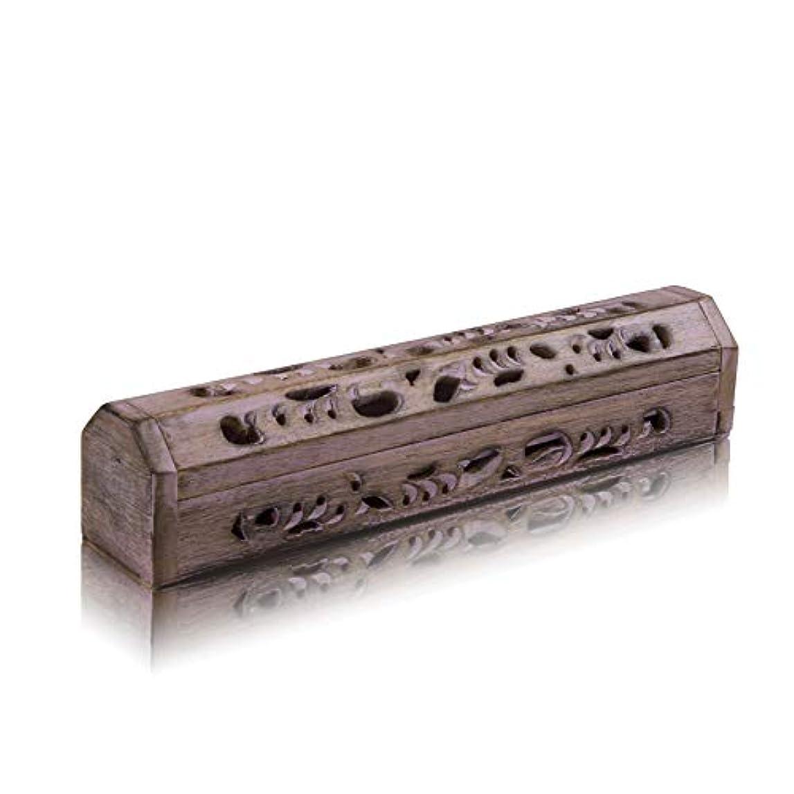 元に戻す樹木コーン木製お香スティック&コーンバーナーホルダー 収納コンパートメント付き オーガニックで環境に優しいアッシュキャッチャー アガーバティホルダー 素朴なスタイル 瞑想 ヨガ アロマセラピー ホームフレグランス製品