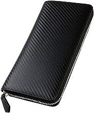 Zillman Men's Carbon Leather Wallet, Genuine Leather