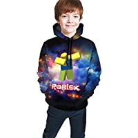 Ophelia Cornell Children's Hoodies Roblox 3D Print Unisex Pullover Hooded Sweatshirts for Kid's/Youth/Boys/Girls