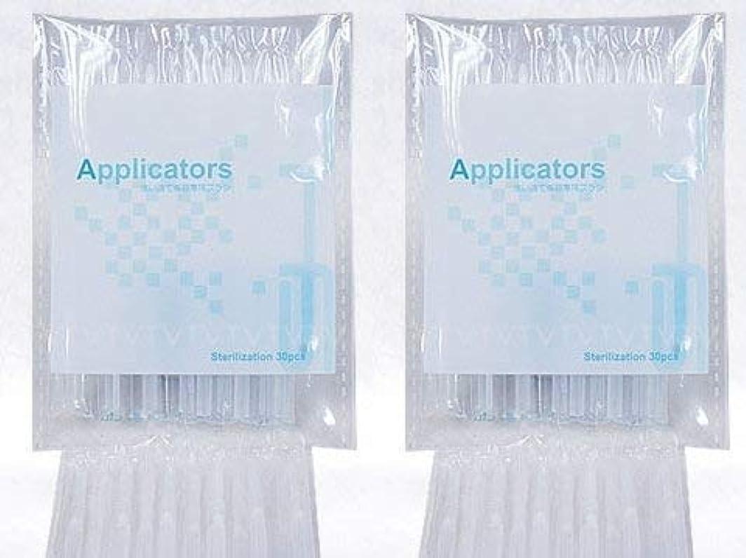 例示するトランスミッションよろめくまつ毛美容液 アプリケーター ブラシ 2袋(80本)