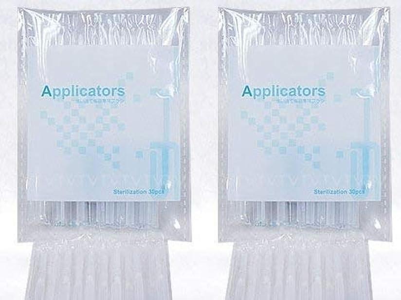 血リングミリメートルまつ毛美容液 アプリケーター ブラシ 2袋(80本)