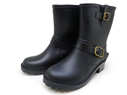 ジュニア エンジニア レイン ブーツ JH01 [ キッズ 長靴 ] 22.0 ブラック