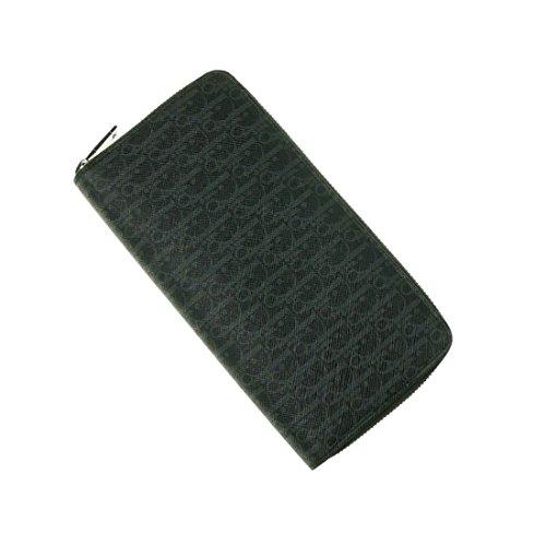 (ディオールオム)DIOR HOMME メンズラウンドファスナー長財布(小銭入れ付き) 2DEBC011XIS ブラック [並行輸入品]