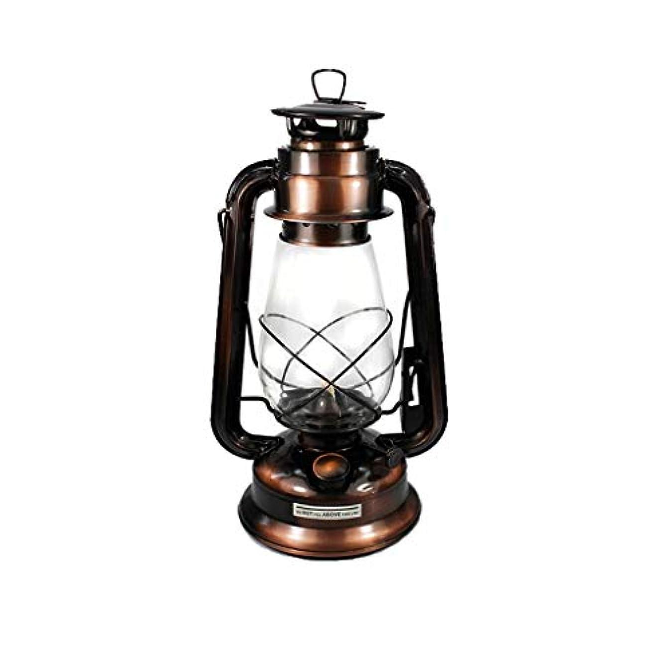 テニス曇った力強いレトロクラシックポータブル灯油シャンデリアキャンプ調光灯油灯心ポータブルオイルランプ屋外キャンプライト