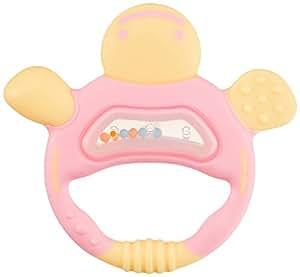 リッチェル Richell 歯固め 歯がため(かめさん) ピンク 3か月頃から対象 ケース付