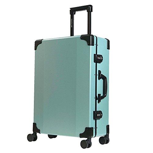 L型 グリーン/DL-2457K(RECT) TSAロック搭載 スーツケース トランクケース 大型 (5~10日用)