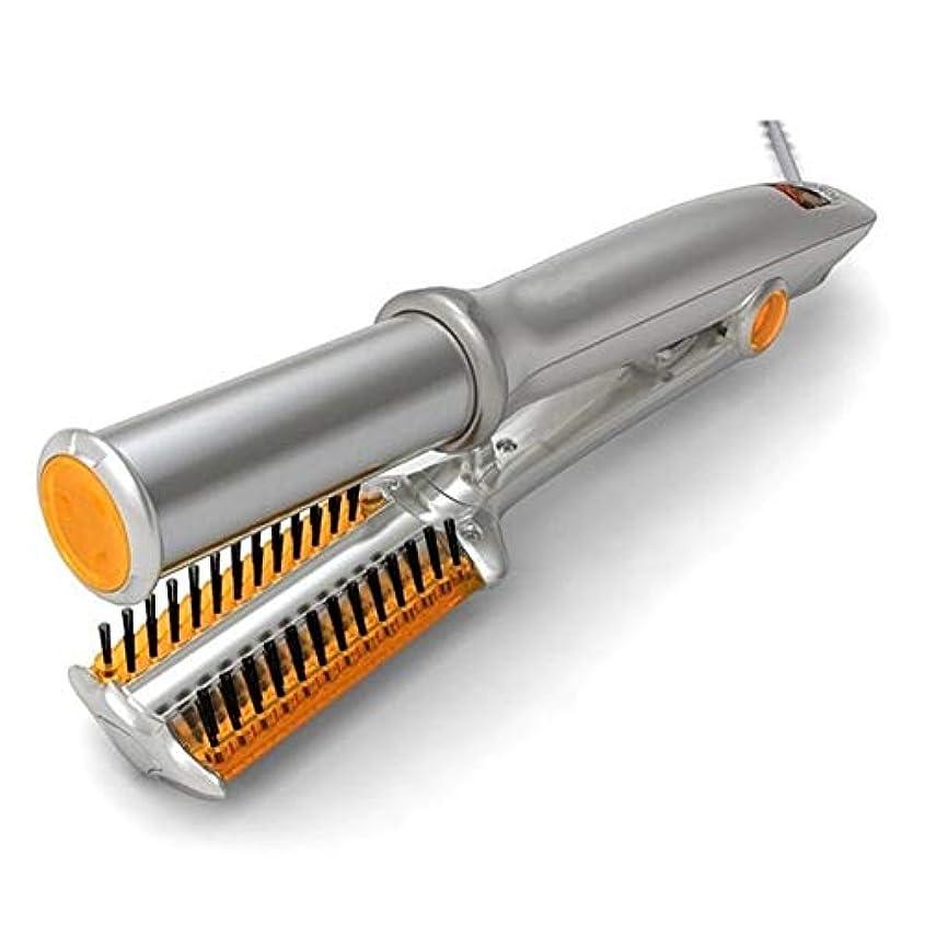 退屈テザーマット電動ストレートヘアアイロンカール矯正ツール電動カール矯正アイロン q30k1j (Color : US)