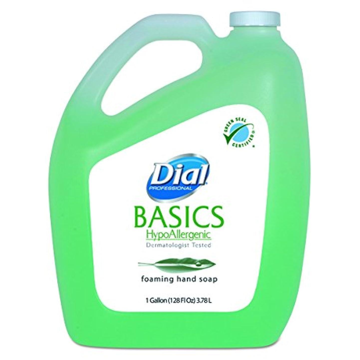 不良品カリキュラムのりダイヤルProfessional Basics Foaming Hand Soap、オリジナル、スイカズラ、1ガロンボトル、4 /カートン