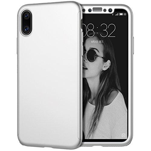 iPhone X ケース,Karsaer全面保護 360度フ...