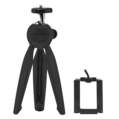 三脚スタンド ミニ shinyswan 卓上三脚 スマホ・カメラ用 iPhone三脚 高さ調整 自撮り用 小型 軽量 ブラック