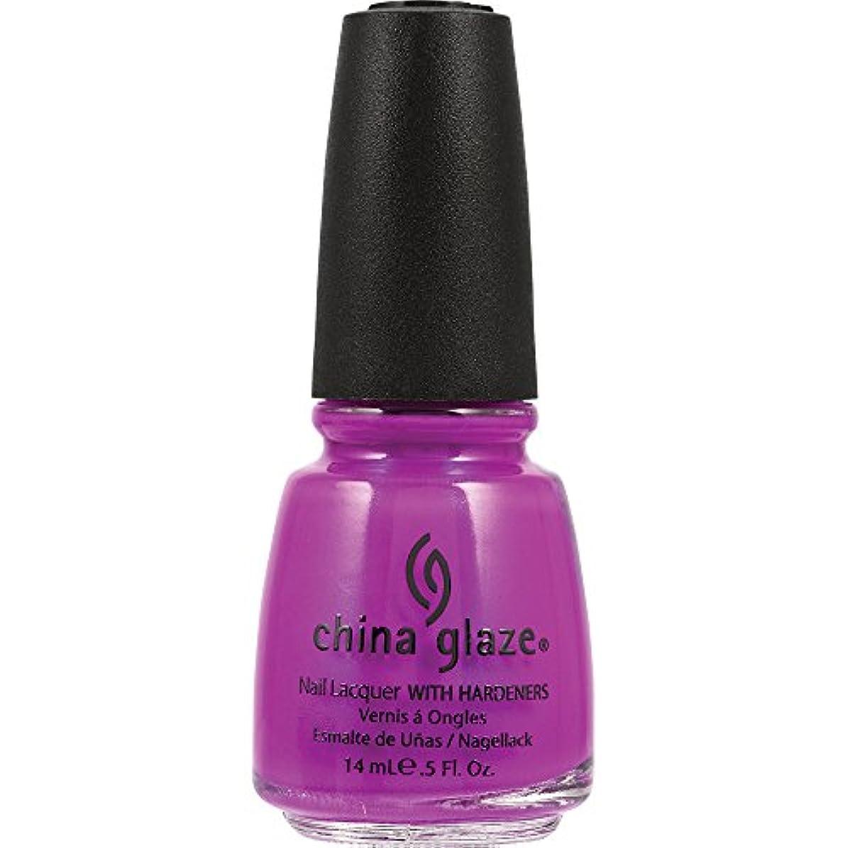 売上高透けて見える筋肉のChina Glaze Nail Lacquer 1008 Purple Panic 70290 (並行輸入品)