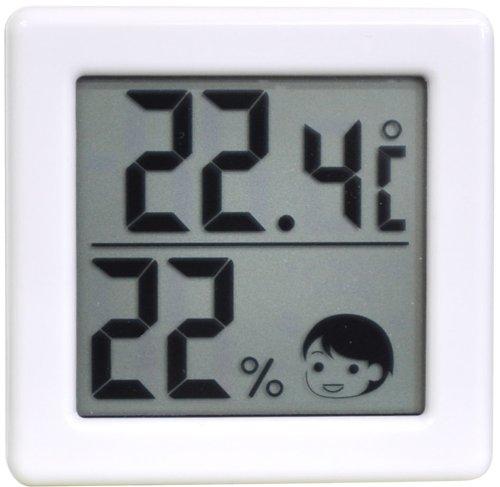 ドリテック 小さいデジタル温湿度計 ホワイト O-257WT...