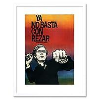 Political Liberation Theology Priest Struggle Chile Framed Wall Art Print 政治チリ壁