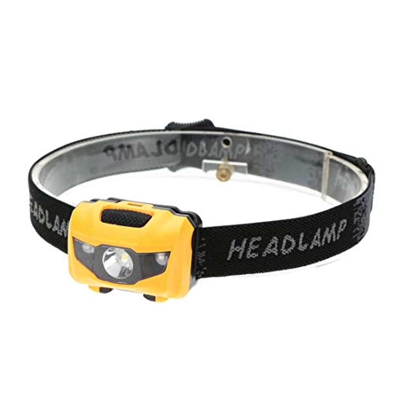 ながら付き添い人最愛のヘッドライト ヘッドランプ 小型 軽量 LED ヘッド ライト 防水アウトドア 釣り 登山 自転車 単4電池仕様 点灯モード4パターン(OKB)